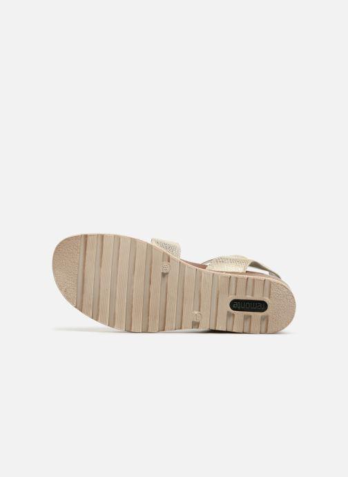 Sandales et nu-pieds Remonte Idal D6351 Beige vue haut