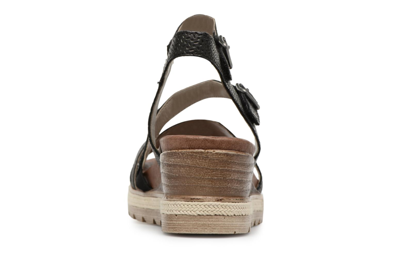Sandales et nu-pieds Remonte Jada D6356 Noir vue droite