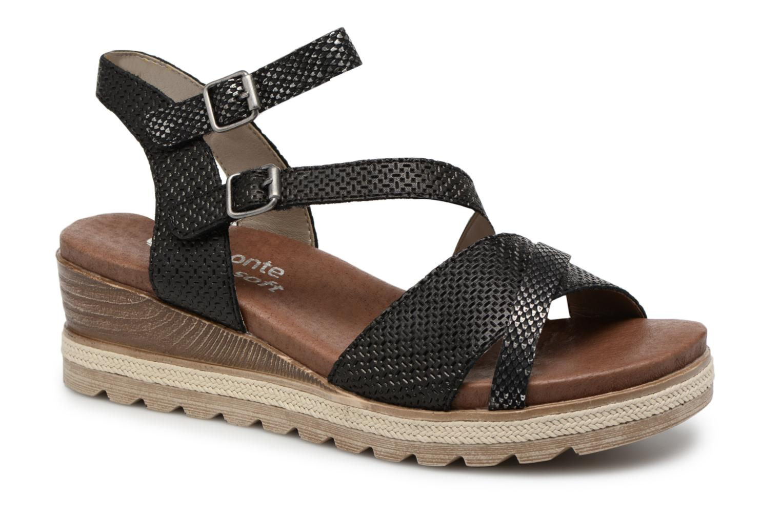 Sandals Remonte Jada D6356 Black detailed view/ Pair view