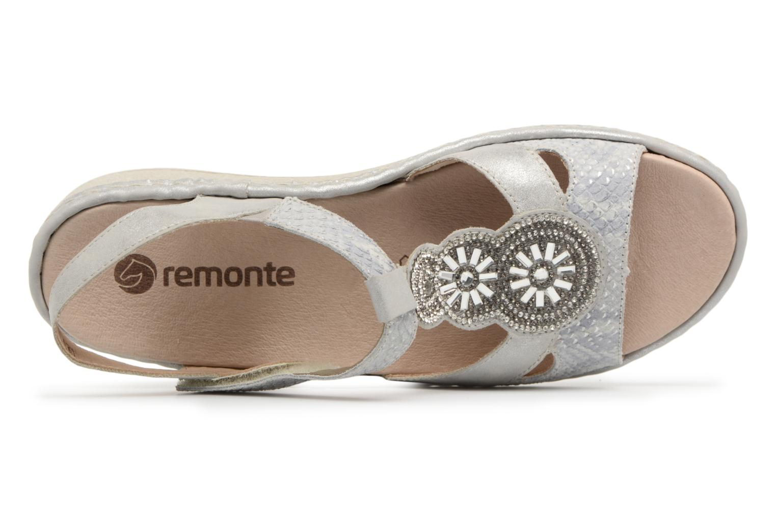 Sandals Remonte Lacee D7645 Grey view from the left