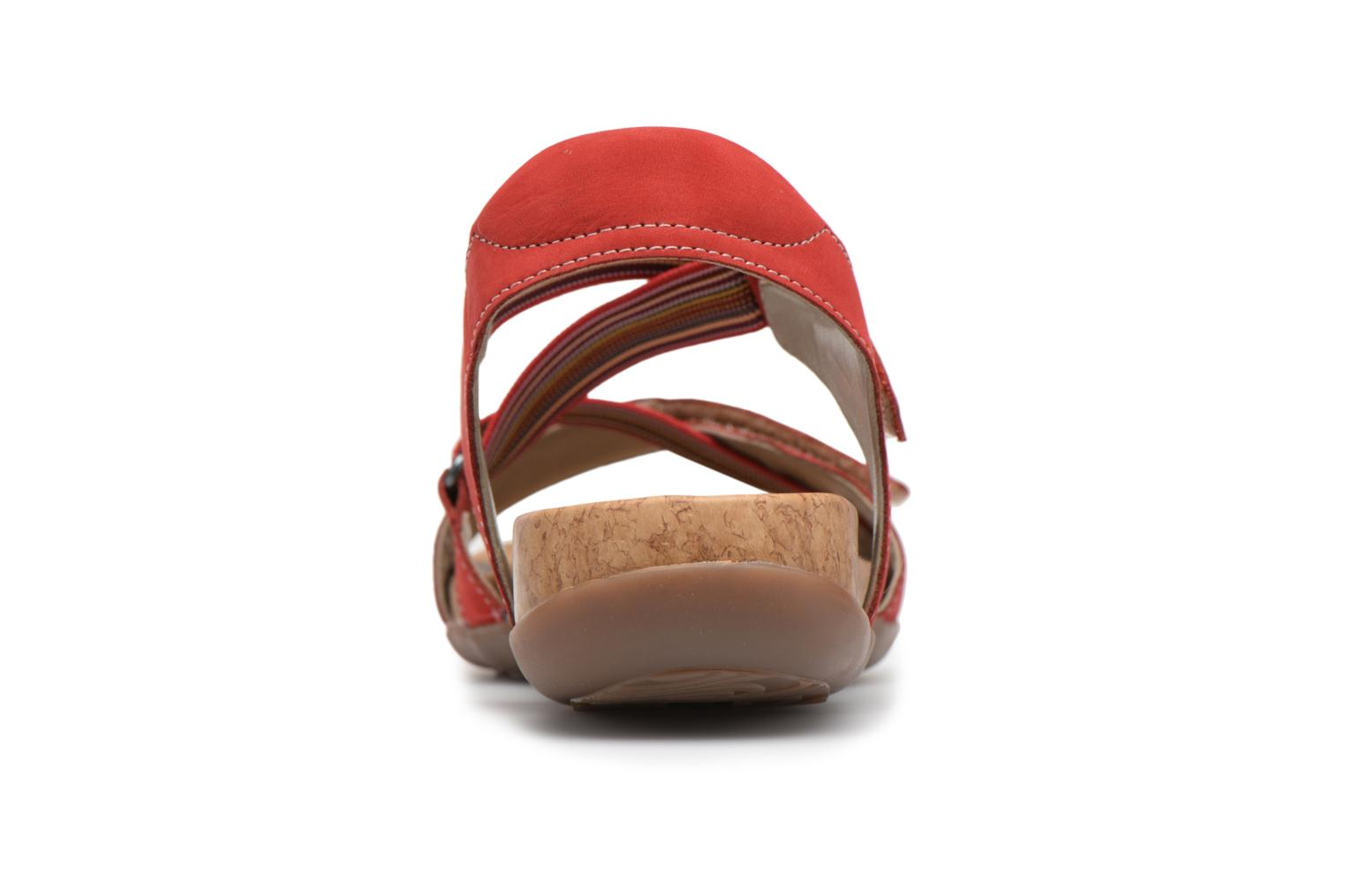 Sandals Remonte Okes R3257 Red view from the right