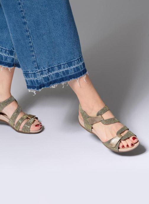 Sandales et nu-pieds Remonte Palmer R3259 Or et bronze vue bas / vue portée sac