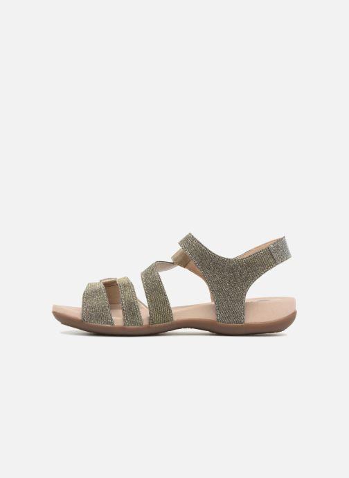 Sandales et nu-pieds Remonte Palmer R3259 Or et bronze vue face