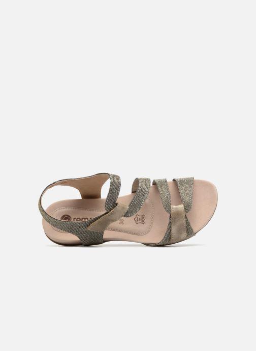 Sandales et nu-pieds Remonte Palmer R3259 Or et bronze vue gauche