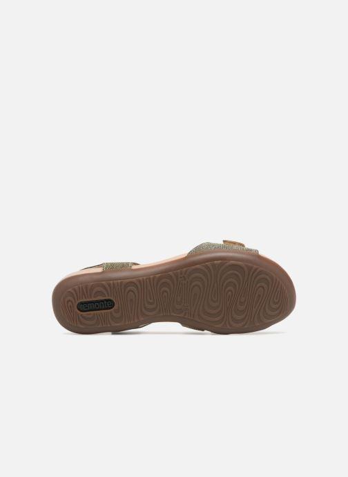 Sandales et nu-pieds Remonte Palmer R3259 Or et bronze vue haut