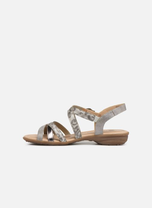 Sandals Remonte Sander R3631 Silver front view