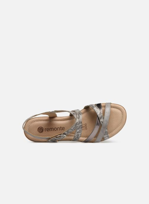 Sandals Remonte Sander R3631 Silver view from the left