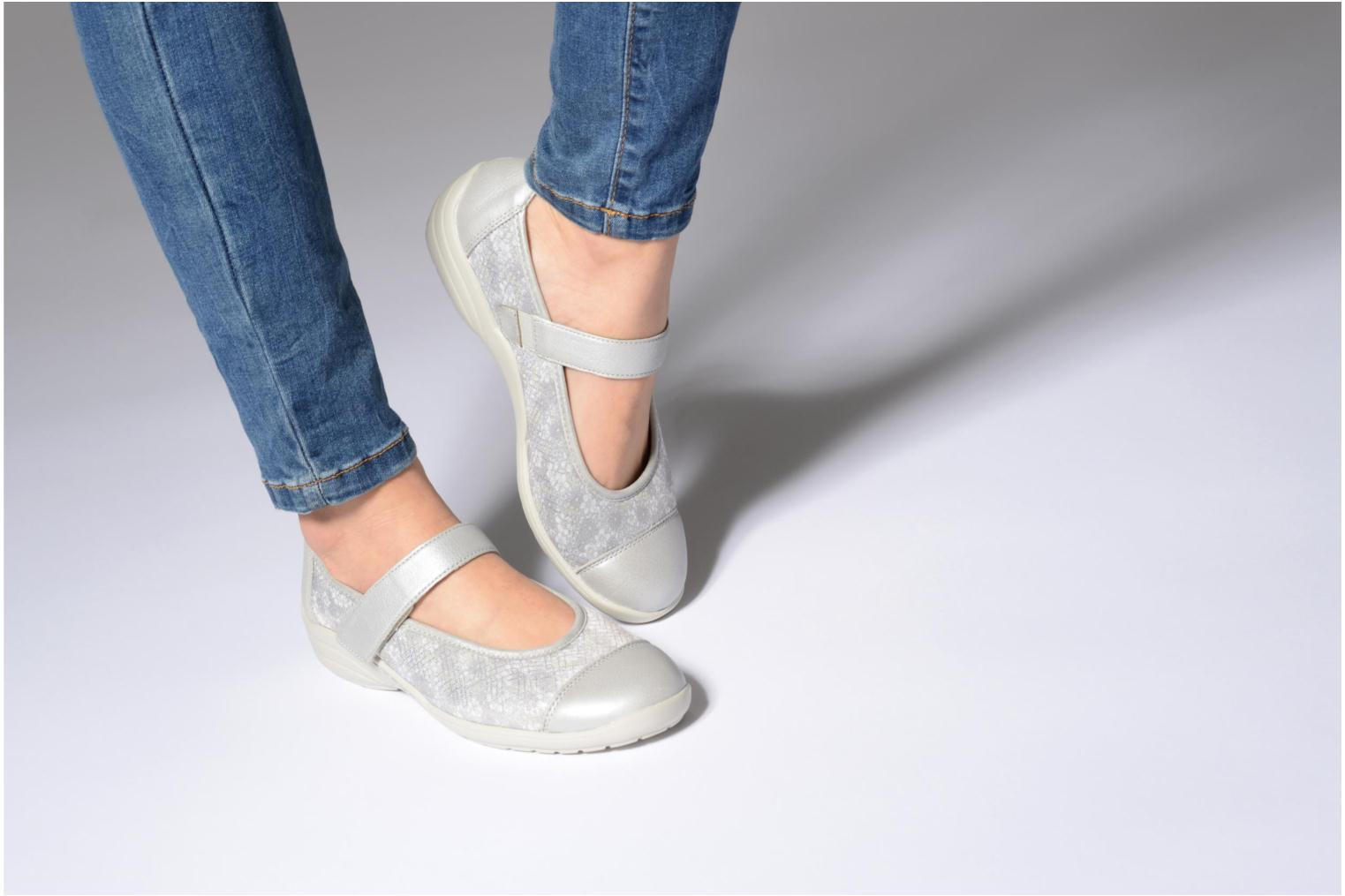Ballet pumps Remonte Danya R7627 Grey view from underneath / model view