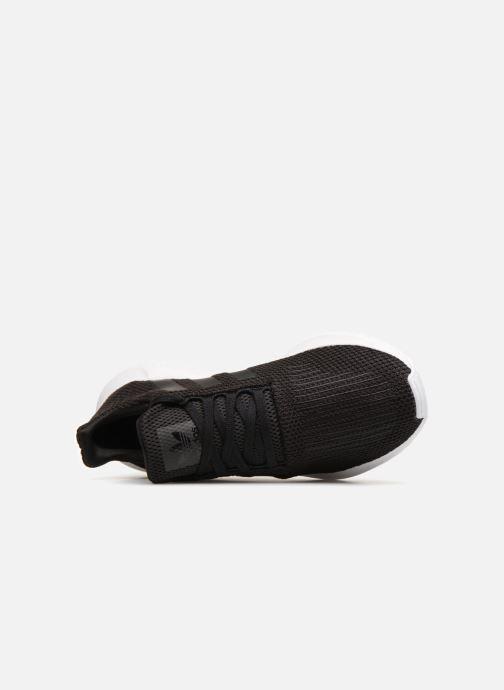 Sneaker adidas originals Swift Run schwarz ansicht von links