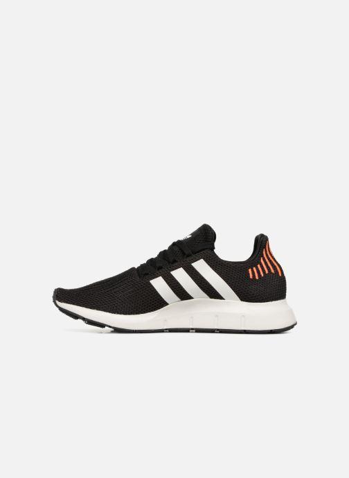 Sneaker adidas originals Swift Run schwarz ansicht von vorne