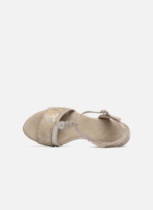 Sandales et nu-pieds Khrio Suasa parker perla Beige vue gauche