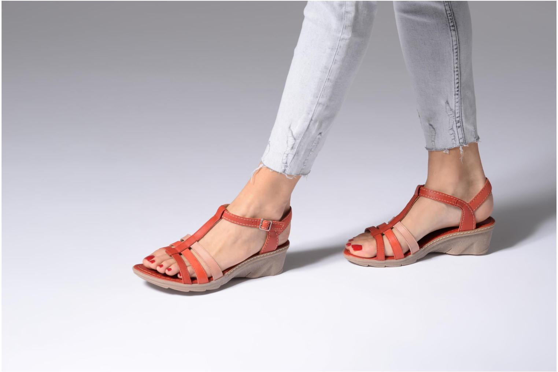 Sandales et nu-pieds Khrio Logaki mohair fire Rouge vue bas / vue portée sac