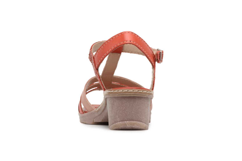 Sandales et nu-pieds Khrio Logaki mohair fire Rouge vue droite