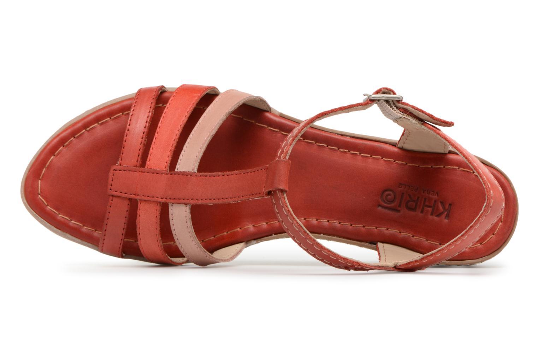 Sandales et nu-pieds Khrio Logaki mohair fire Rouge vue gauche