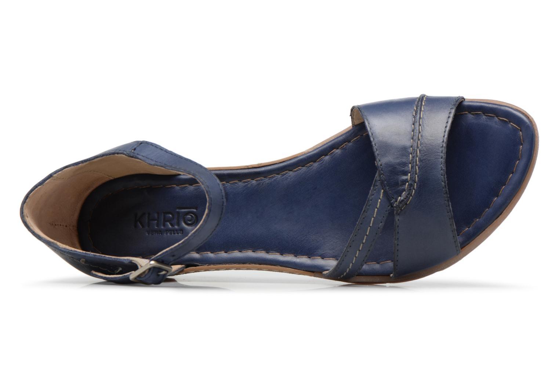 Sandales et nu-pieds Khrio Paorla mohair prussi Bleu vue gauche