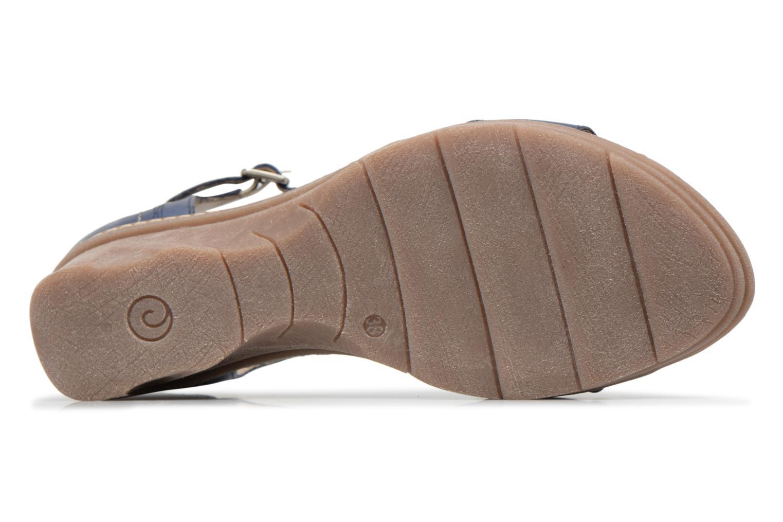 Sandales et nu-pieds Khrio Paorla mohair prussi Bleu vue haut