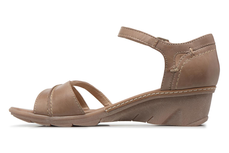 Sandales et nu-pieds Khrio Paorla mohair taupe Beige vue face