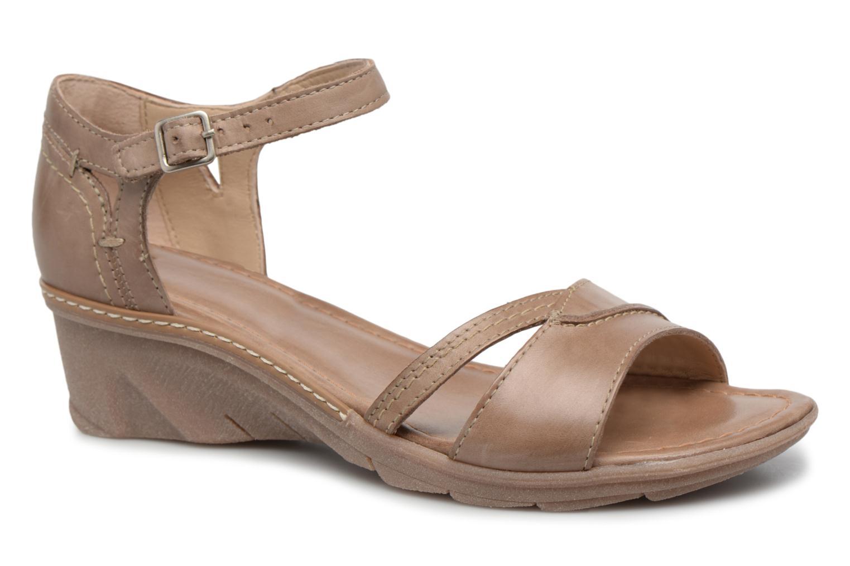 Sandales et nu-pieds Khrio Paorla mohair taupe Beige vue détail/paire