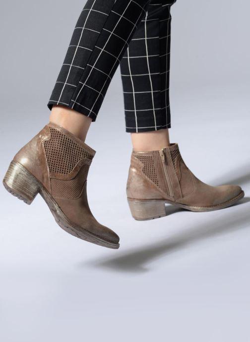 Bottines et boots Khrio Sinuko saio ebano Marron vue bas / vue portée sac