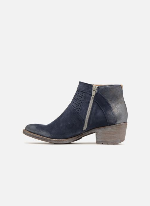 Bottines et boots Khrio Taloha saio prussia Bleu vue face