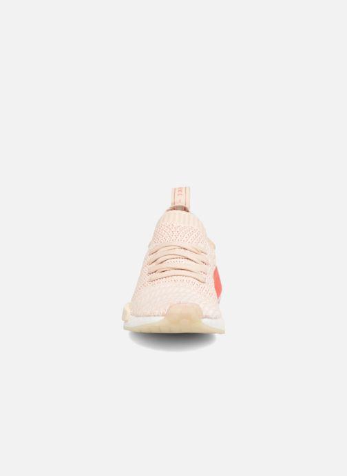 Baskets adidas originals Nmd_R1 Stlt Pk W Rose vue portées chaussures