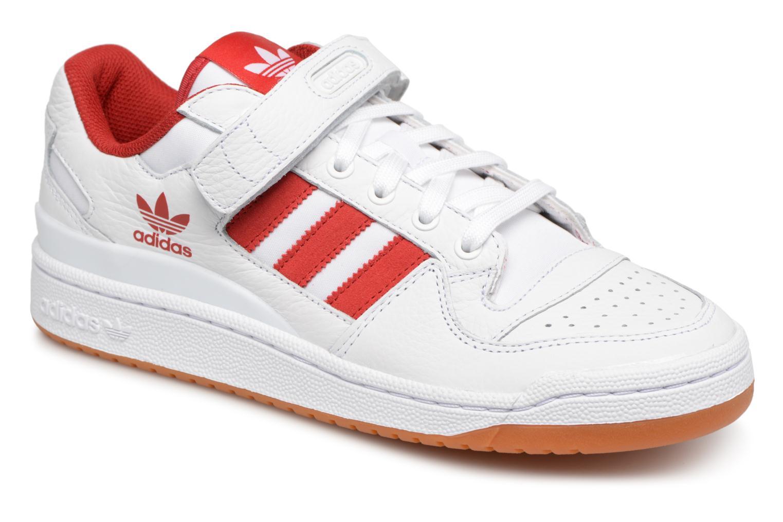 Baskets Adidas Originals Forum Lo Blanc vue détail/paire