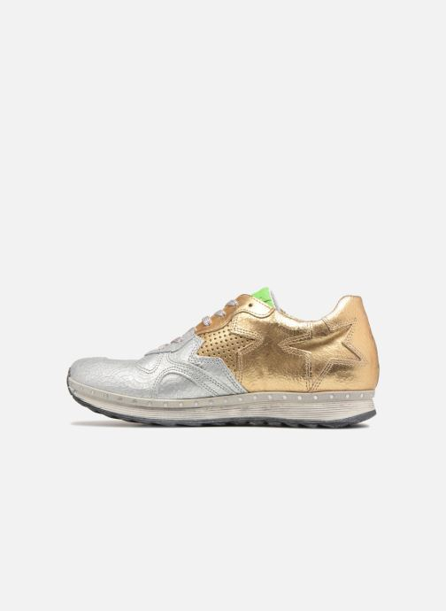 Trainers Khrio Estrela Bronze and Gold front view