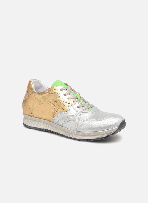Baskets Khrio Estrela Or et bronze vue détail/paire