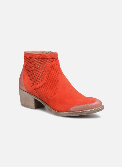 Ankle boots Khrio Lucia Red detailed view/ Pair view