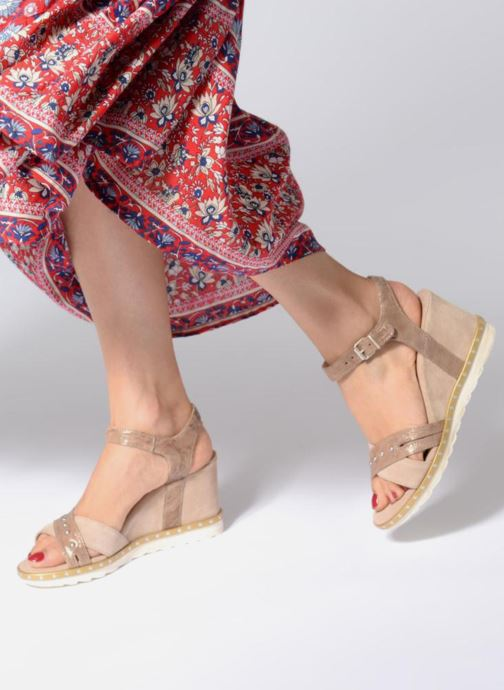 Sandales et nu-pieds Khrio Corona Marron vue bas / vue portée sac