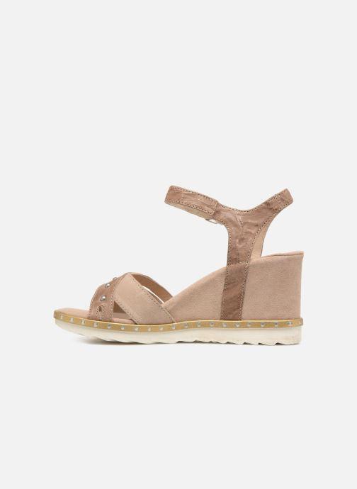 Sandales et nu-pieds Khrio Corona Marron vue face