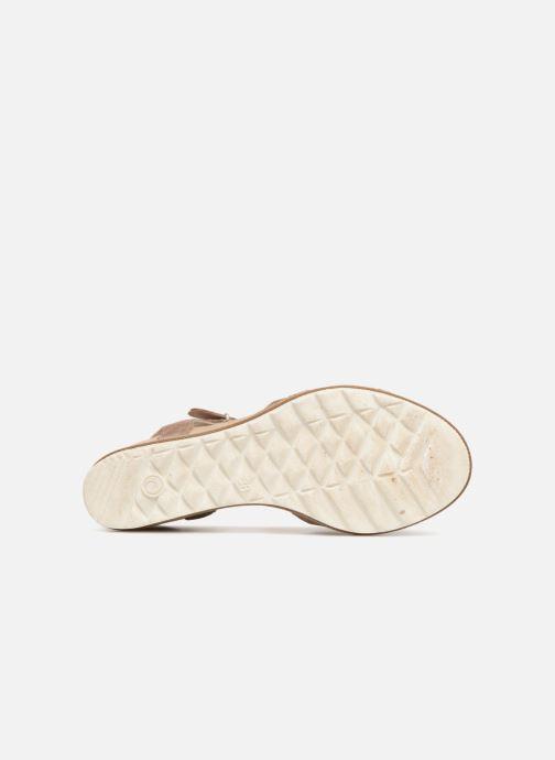 Sandales et nu-pieds Khrio Corona Marron vue haut