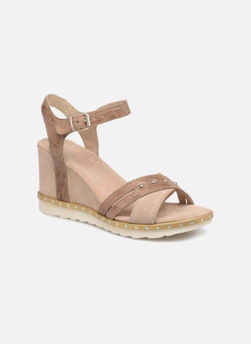 Sandales et nu-pieds Khrio Corona Marron vue détail/paire