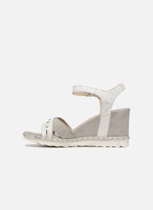 Sandales et nu-pieds Khrio Corona Gris vue face