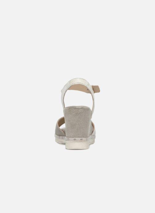 Sandales et nu-pieds Khrio Corona Gris vue droite