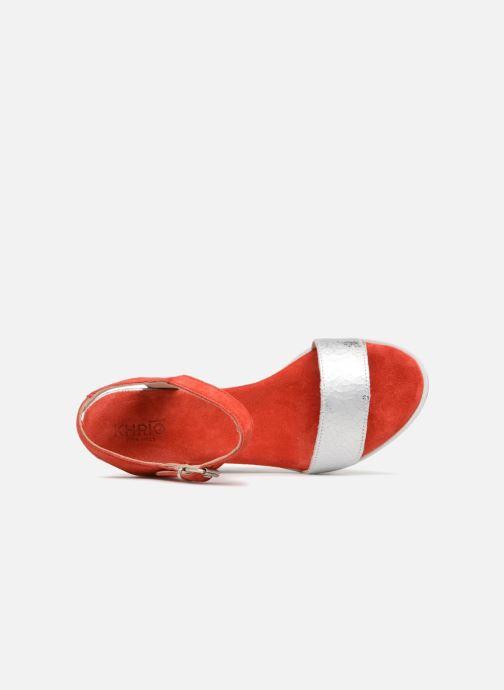 Sandales et nu-pieds Khrio Primavera Rouge vue gauche