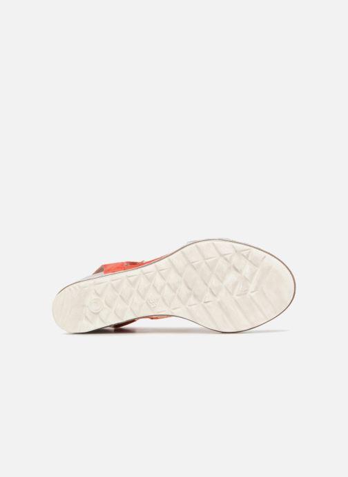 Sandales et nu-pieds Khrio Primavera Rouge vue haut