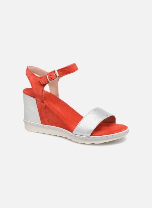 Sandales et nu-pieds Khrio Primavera Rouge vue détail/paire