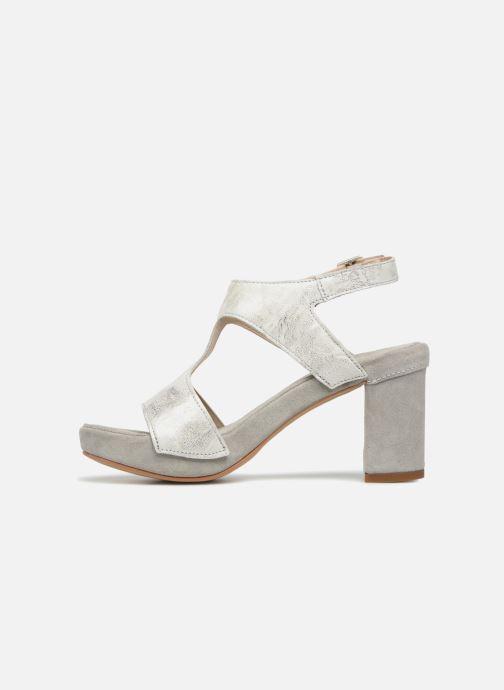 Sandales et nu-pieds Khrio Cara Gris vue face