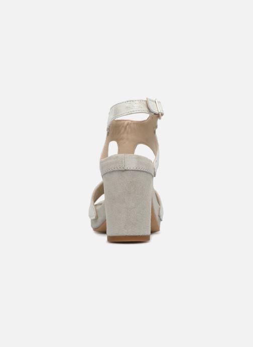 Sandales et nu-pieds Khrio Cara Gris vue droite
