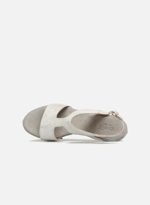 Sandales et nu-pieds Khrio Cara Gris vue gauche
