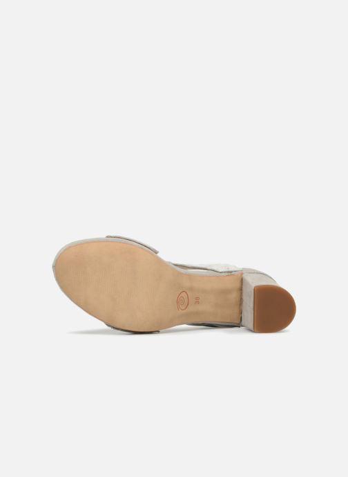 Sandales et nu-pieds Khrio Cara Gris vue haut