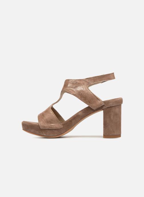 Sandales et nu-pieds Khrio Cara Marron vue face