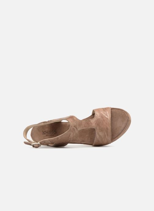 Sandales et nu-pieds Khrio Cara Marron vue gauche