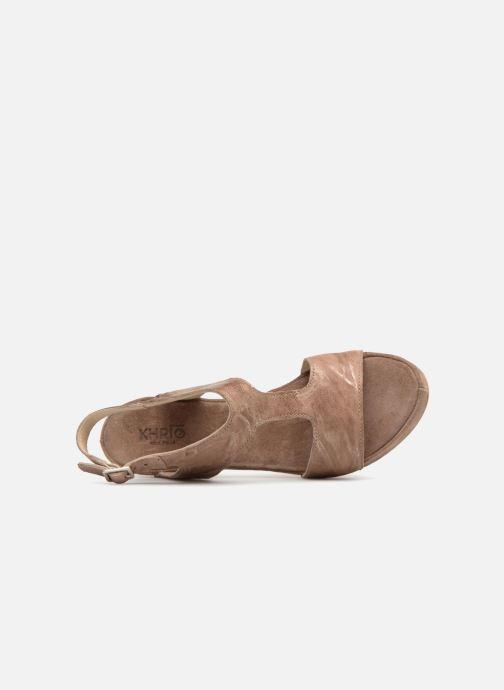 Sandali e scarpe aperte Khrio Cara Marrone immagine sinistra
