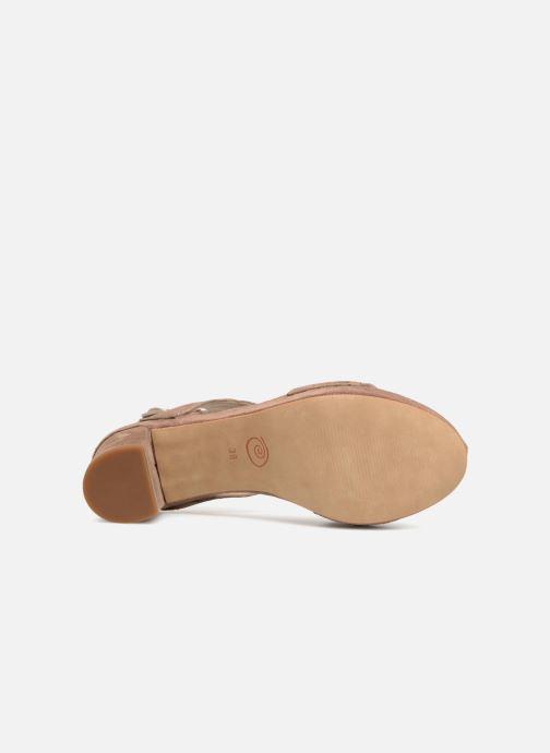 Sandales et nu-pieds Khrio Cara Marron vue haut