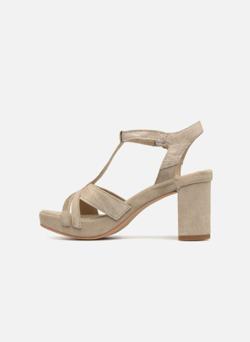 Sandales et nu-pieds Khrio Pila Beige vue face