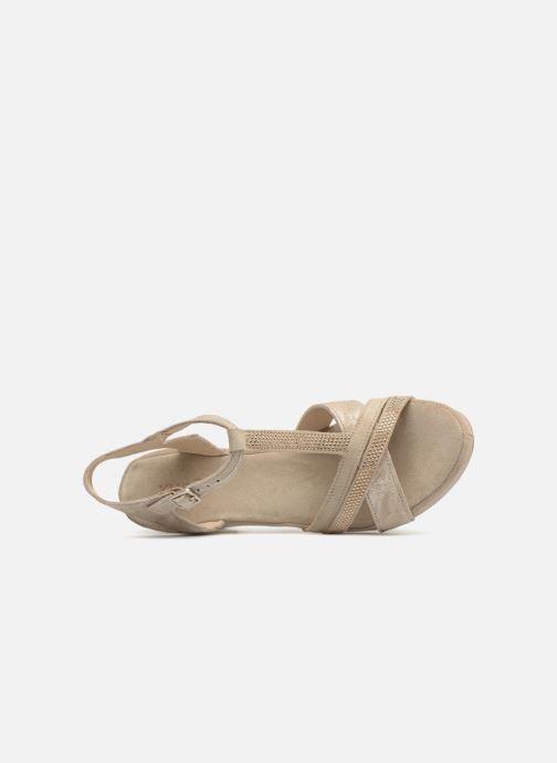 Sandales et nu-pieds Khrio Pila Beige vue gauche