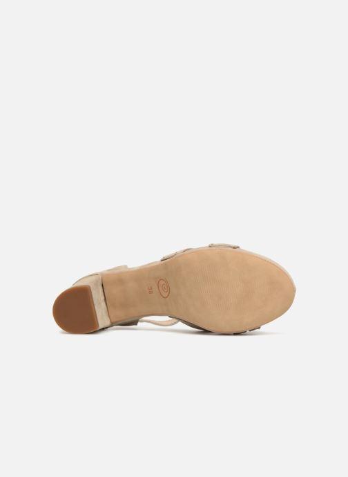 Sandales et nu-pieds Khrio Pila Beige vue haut