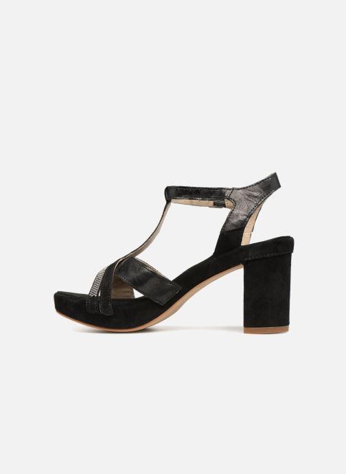 Sandales et nu-pieds Khrio Pila Noir vue face